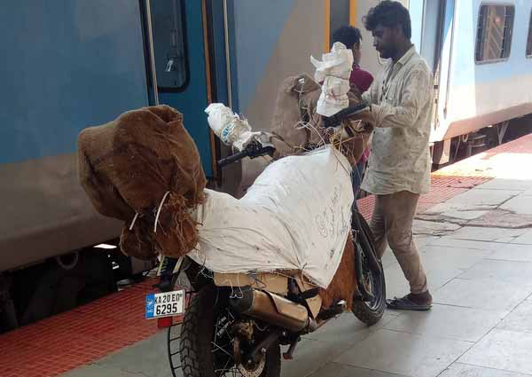 Bike transport by train