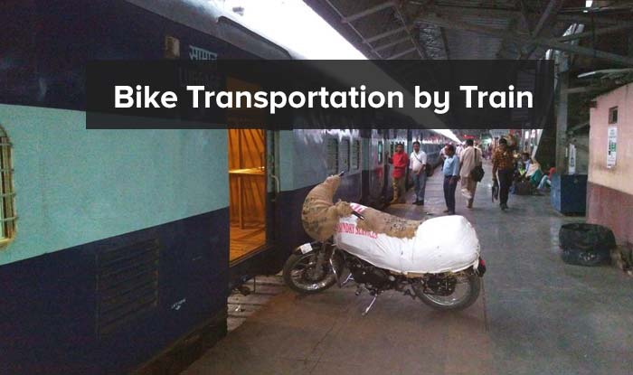 Bike Transportation by Train in India